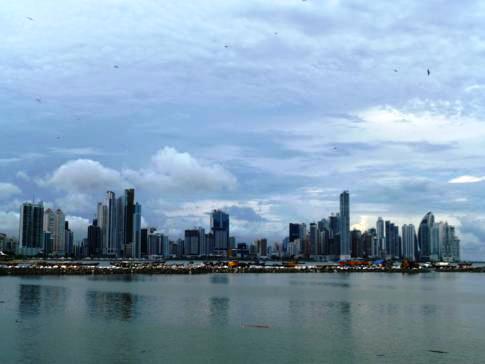 Die beeindruckende Skyline des Bankenviertels von Panama City