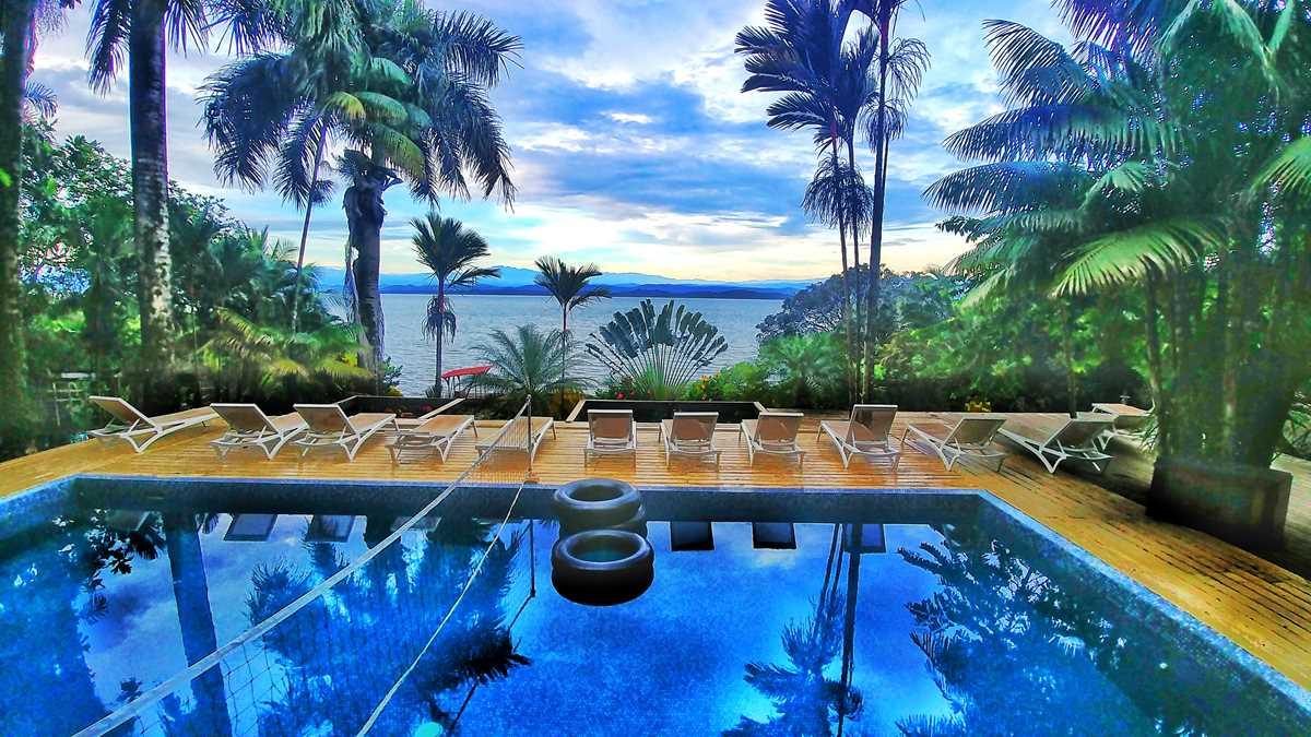 Die Bambuda Lodge auf der Isla Solarte in Bocas del Toro, Panama
