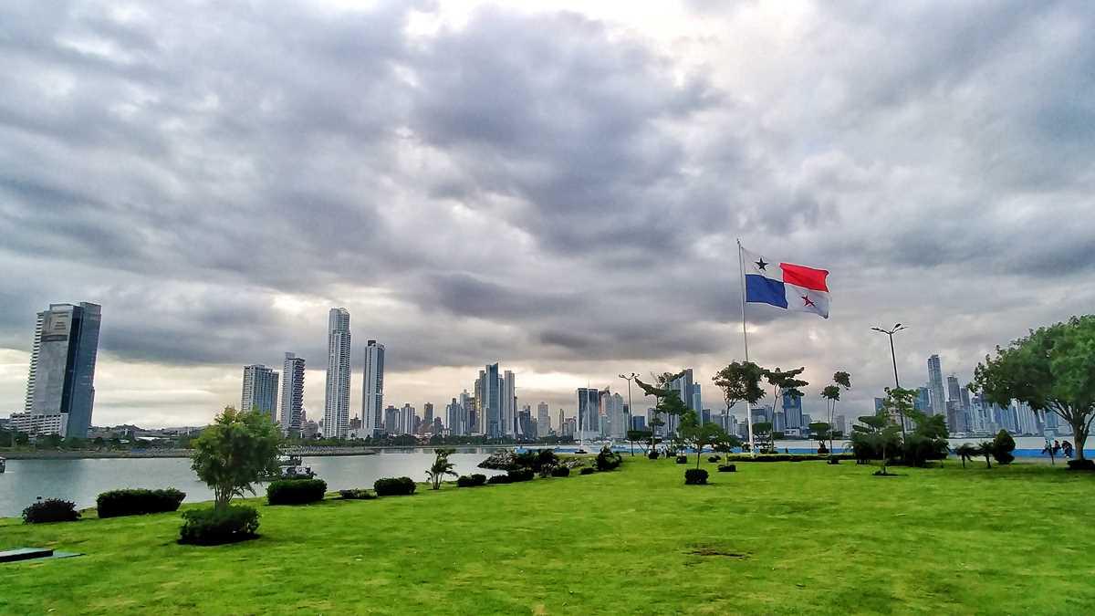 Die Skyline von Panama-Stadt, das Finanzzentrum von Mittelamerika