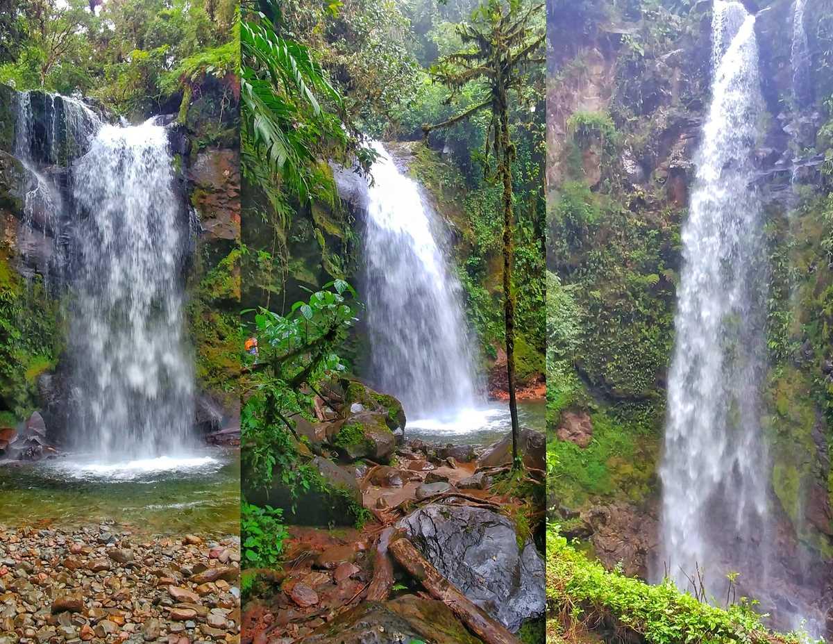Wanderung in Boquete in den Bergen von Panama zum Lost Waterfalls Trail