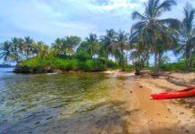 Die Isla Caranero während einer Kayak-Tour durch das Bocas del Toro Archipel