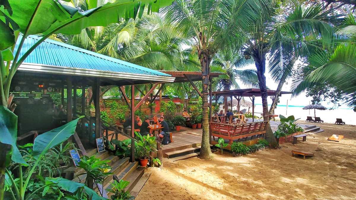 Die fantastische Palmar Beach Lodge auf der Isla Bastimientos im Bocas del Toro Archipel in Panama