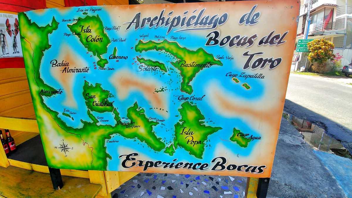 Das Archipel der Bocas del Toro Inselgruppe im Nordwesten von Panama
