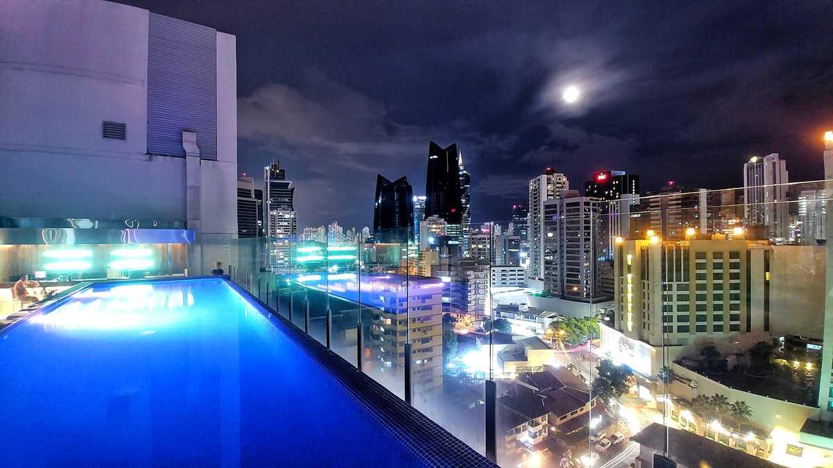 Blick vom AC by Marriott Panama City auf die Skyline von Panama-Stadt