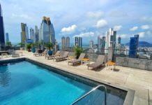 Blick vom Eurostars Panama City auf die Skyline von Panama-Stadt