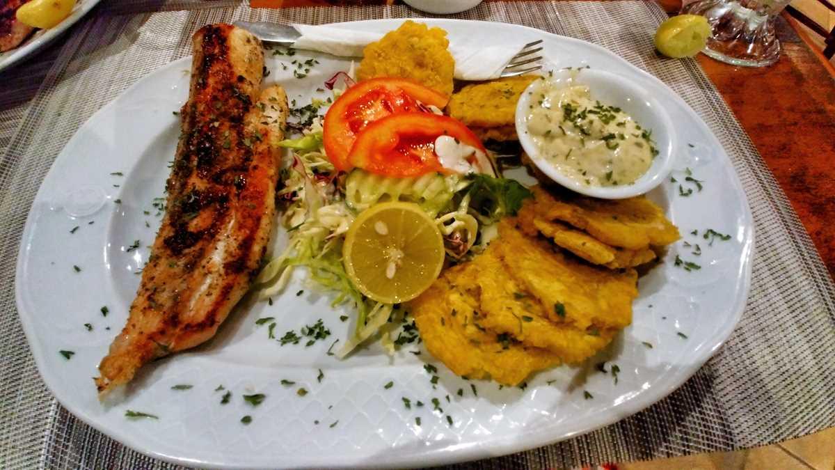 Ein typisches Essen in Panama