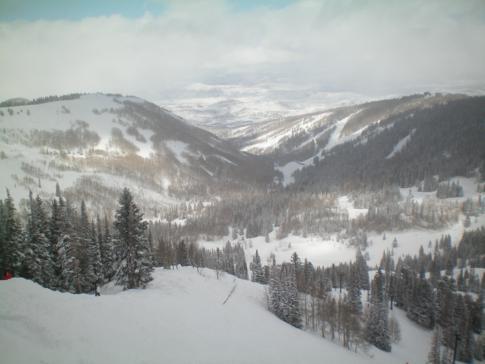 Blick auf die Gebirgslandschaft der Rocky Mountains in den USA