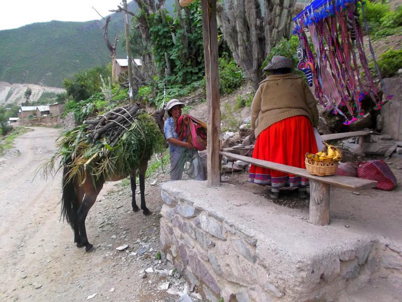 Das Dorfleben im Colca Canyon