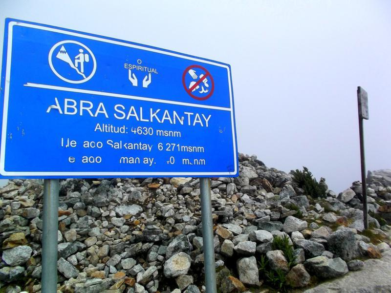 Der höchste Punkt während des Salkantay Trek - der Salkantay Pass auf 4.630 Meter