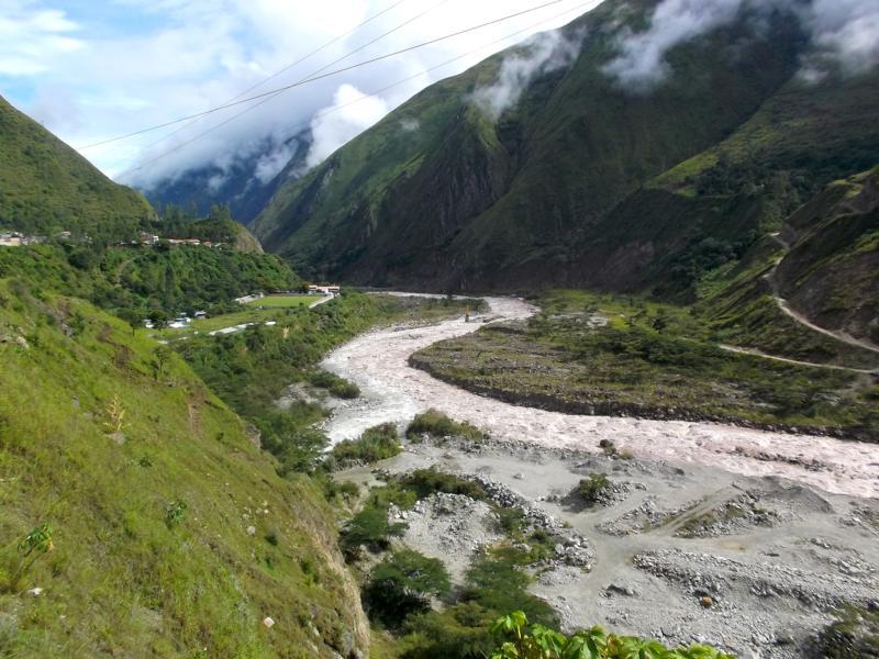 Der Weg von Santa Theresa nach Hidroelectrica auf dem Weg nach Machu Picchu