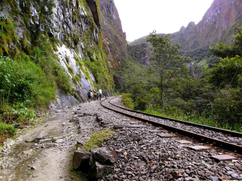 Die Bahnstrecke von Hidroelectrica nach Aguas Caliente