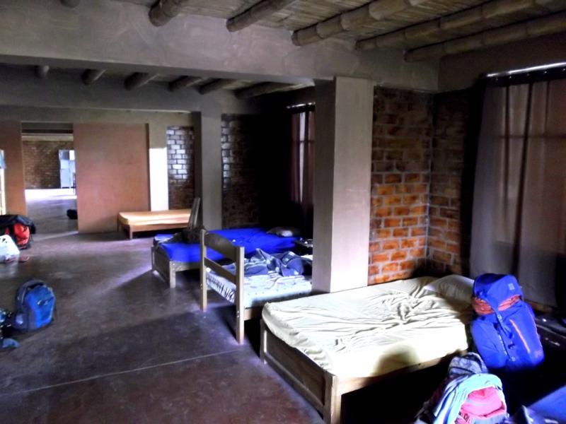 Das Hostal Carola del Sur in Huacachina im Westen von Peru