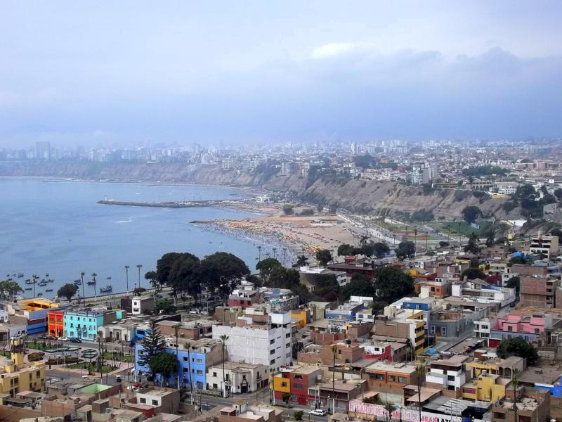 Aussicht über Lima im Stadtviertel Churrillos