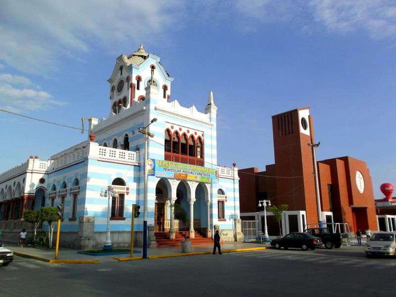 Pisco, ein kleines Städtchen an der Küste von Peru