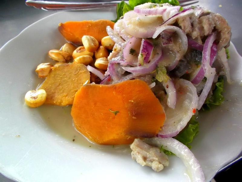 Ceviche, eines der Nationalgerichte von Peru