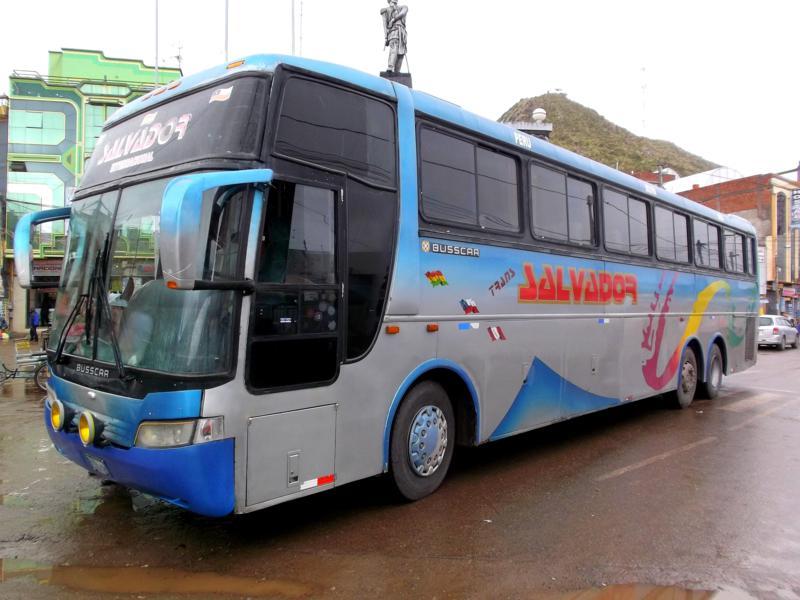 Busfahrt in Südamerika mit Trans Salvador von Cuzco nach La Paz
