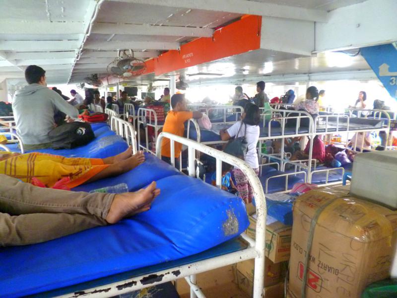 Die Fähre für die Fahrt von Puerto Princesa, Palawan, nach Iloilo