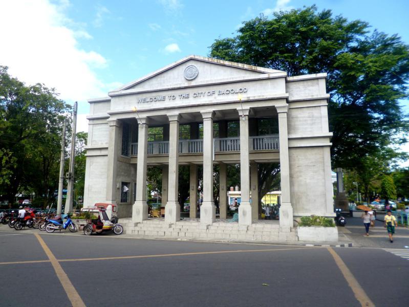 Die Stadt Bacolod auf der Insel Negros