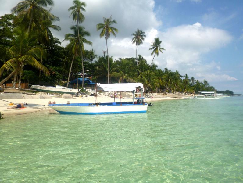 Traumhafte Bedingungen am Alona Beach auf Panglao Island