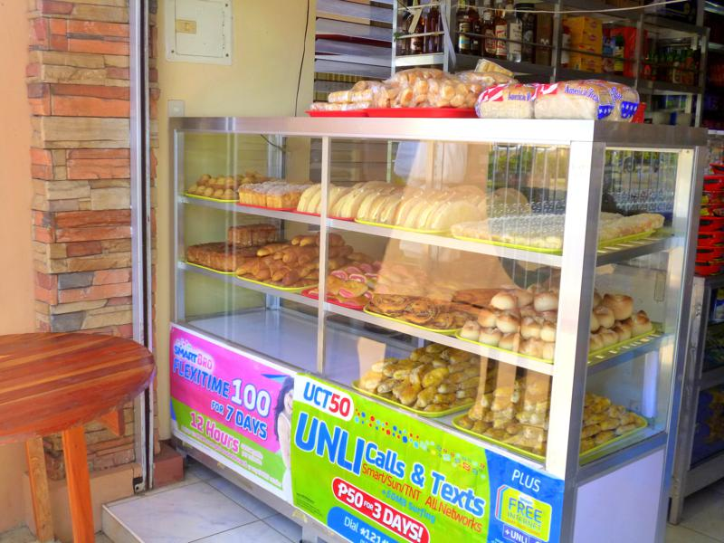 Bäckerein sind ganz typisch für die Philippinen, hier in Puerto Princesa auf Palawan