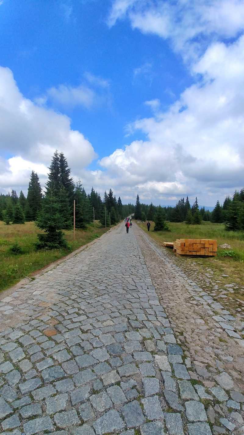 Wanerung auf die Schneekoppe, den höchsten Berg der Tschechischen Republik