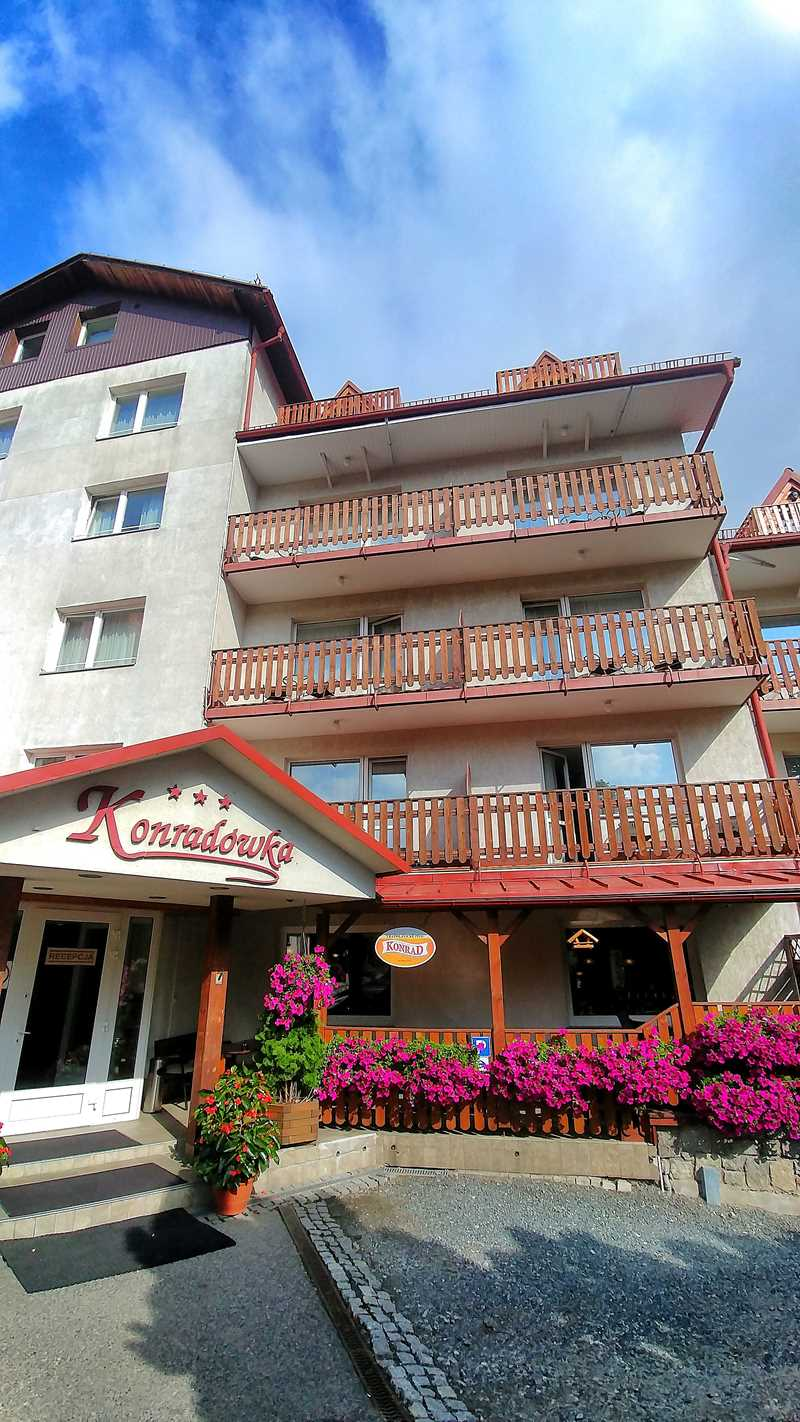 Das Hotel Konradowdka in Karpacz - ein solides 4-Sterne-Haus am Fuße des Riesengebirges
