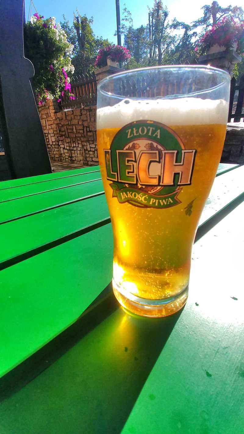 Ein polnisches Bier im Riesengebirge