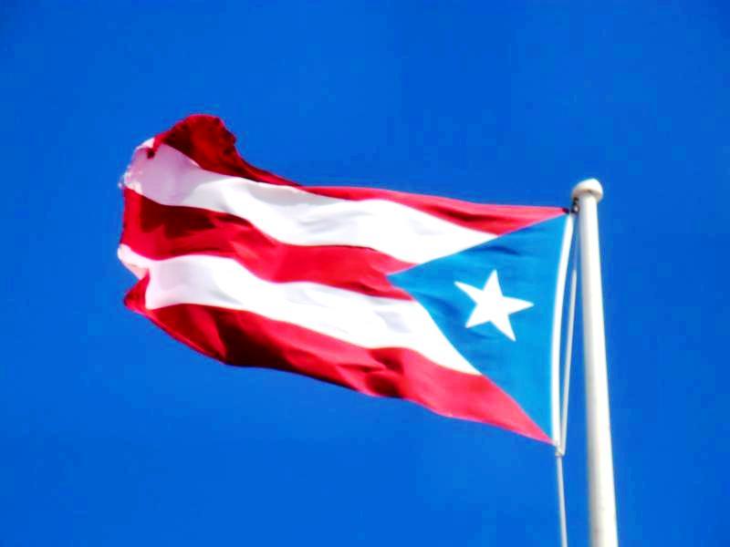 Die Flagge von Puerto Rico