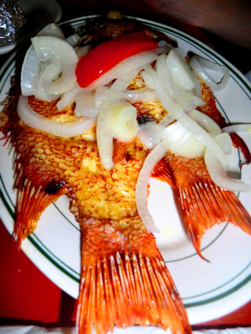 Leckeres Fisch-Dinner in Mayagüez