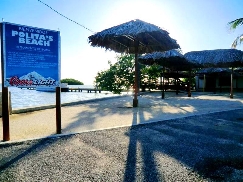 Der minimalistische Polita Beach an der Südküste von Puerto Rico