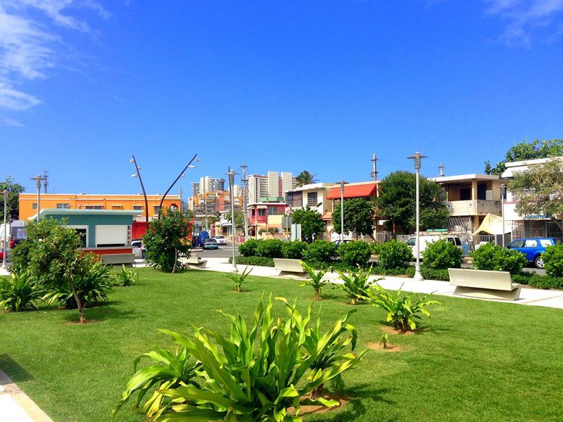 Der gemütliche Strandort Luquillo zwischen San Juan und Fajardo