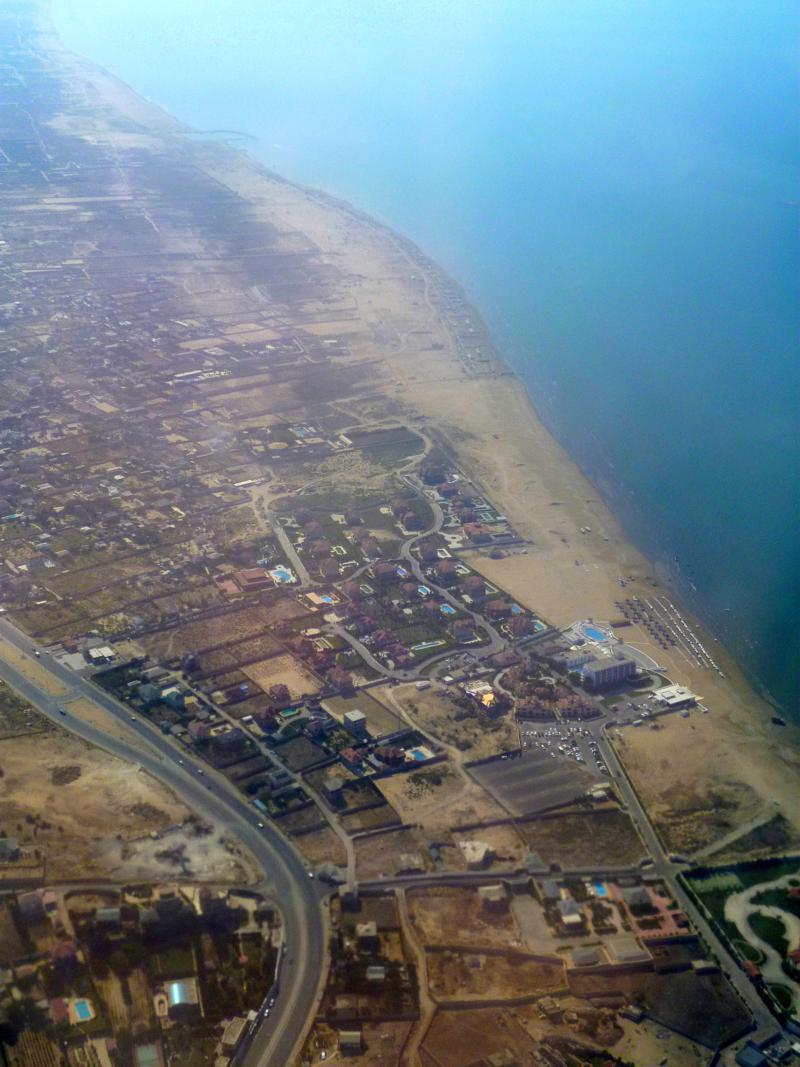Anflug auf Baku