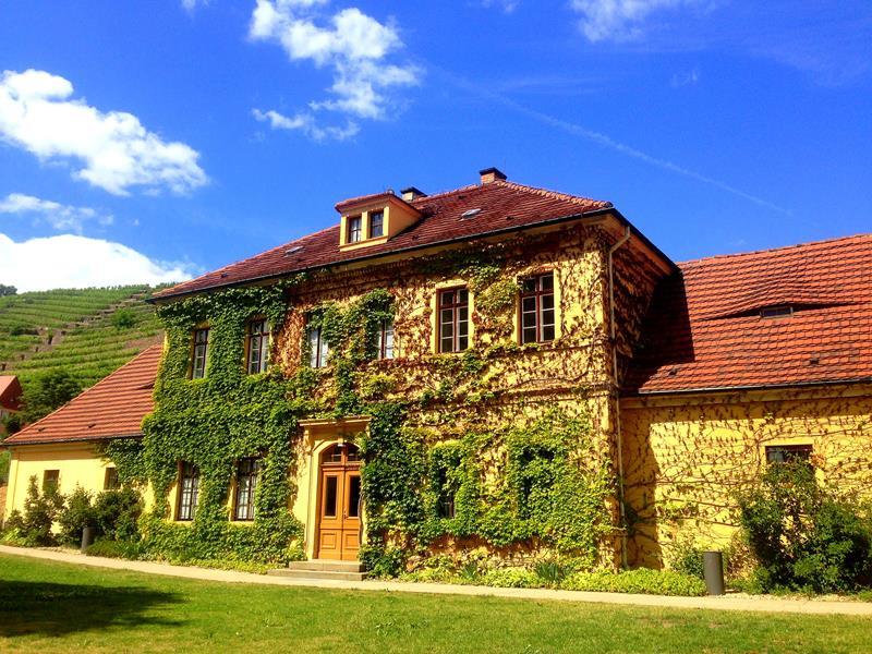Das pittoreske Gut Hoflößnitz in Radebeul bei Dresden