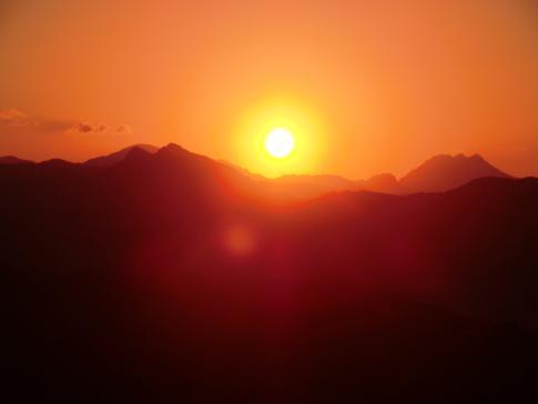 Toller Sonnenuntergang in Ronda