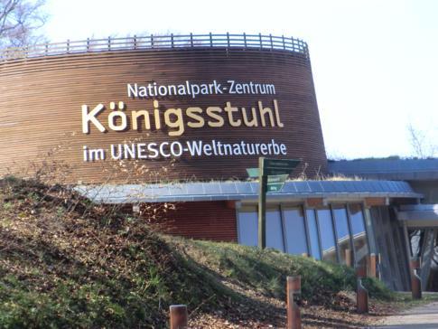Das Nationalparkzentrum Königsstuhl im Nationalpark Jasmund auf Rügen