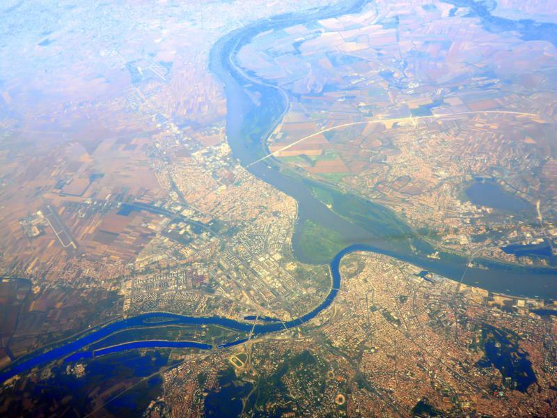 Belgrad, die Hauptstadt von Serbien aus der Luft