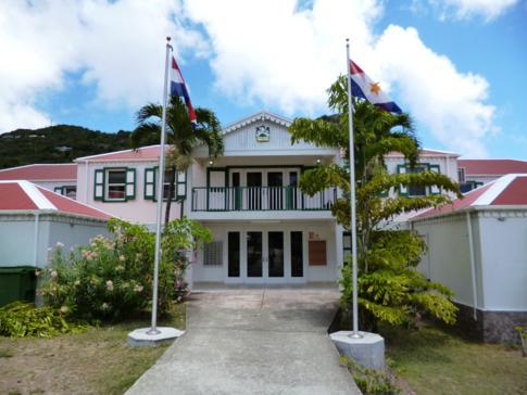 Regierungsgebäude von Saba im Ort The Bottom
