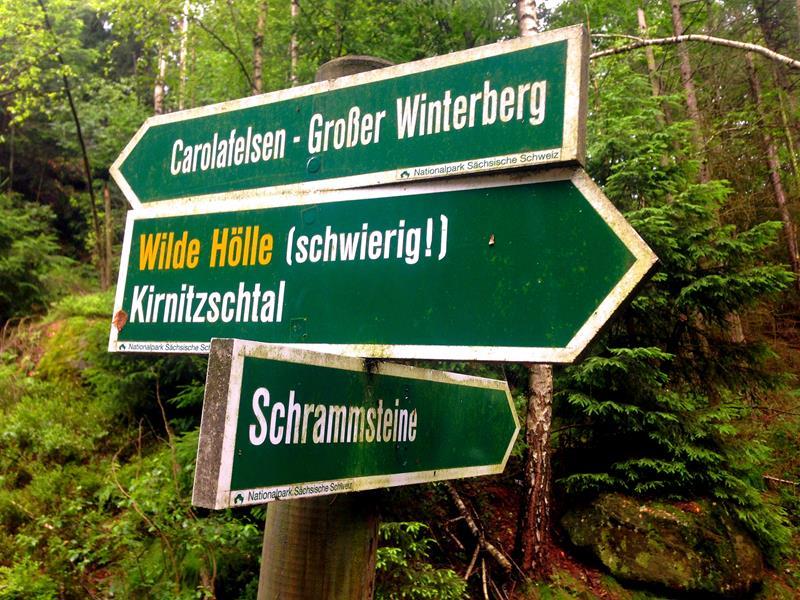 Weg zur Wilden Hölle im Elbsandsteingebirge