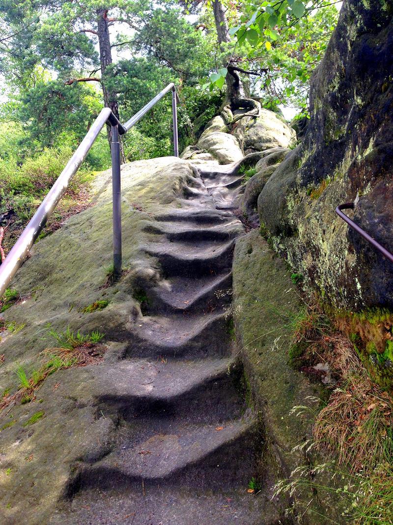 Der Weg durch den Nationalpark Sächsische Schweiz vom Carolafelsen zur Schrammsteinaussicht - inkl. einem Abschnitt auf dem Malerweg
