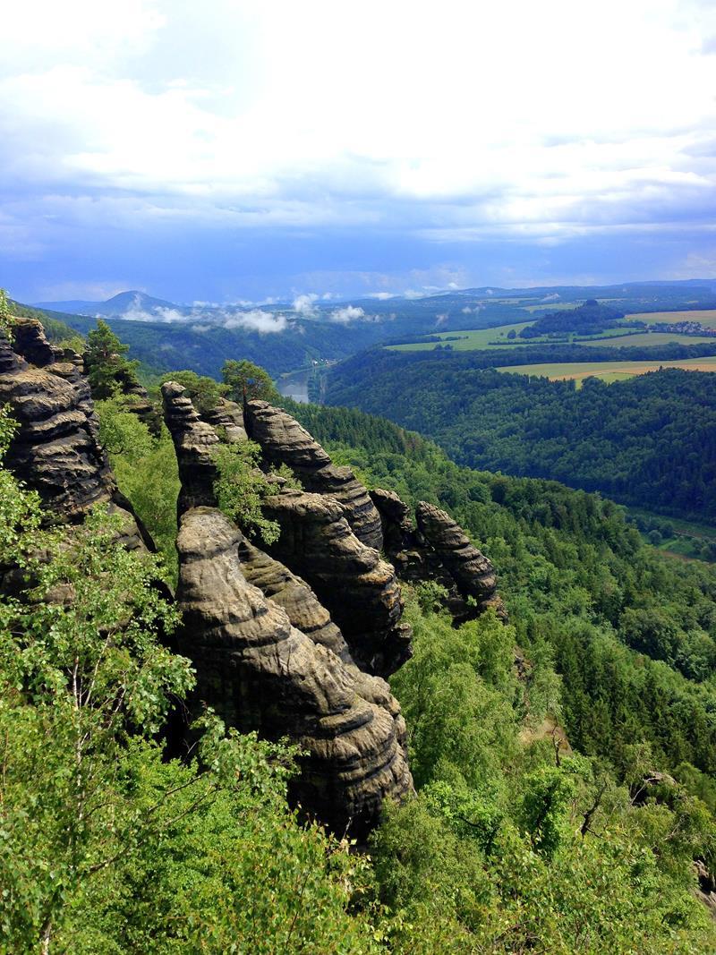 Die Schrammsteinaussicht im Elbsandsteingebirge