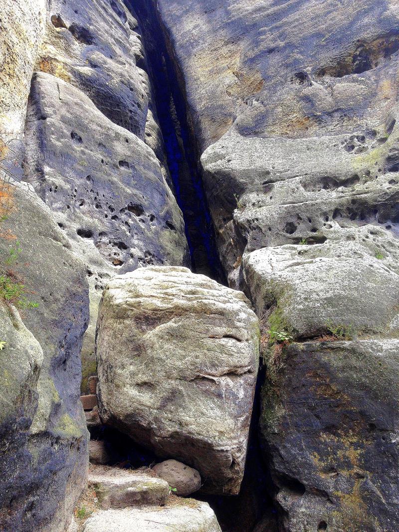 Aufstieg zum Gohrischstein durch die Falkensteinschlucht