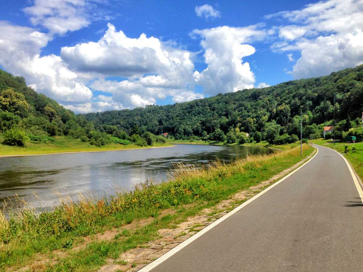 Der Elberadweg in der Sächsischen Schweiz