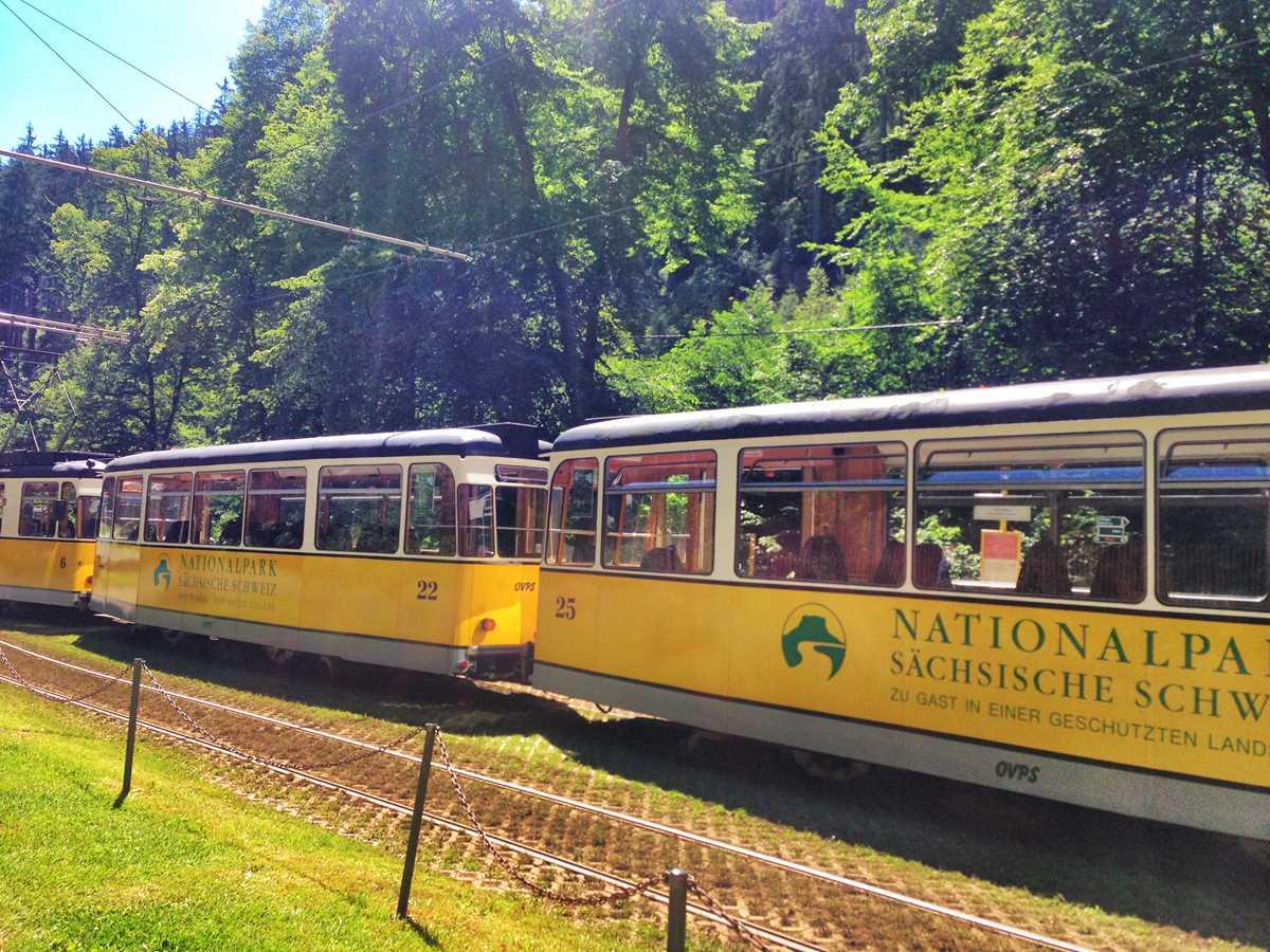 Die historische Kirnitzschtalbahn im Nationalpark Sächsische Schweiz