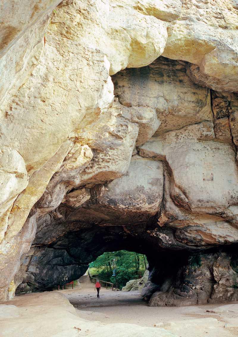 Der Kuhstall, eine der pittoresken Felsformationen im Nationalpark Sächsische Schweiz
