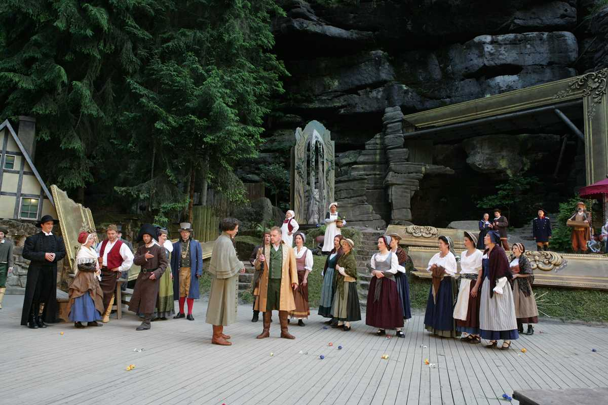 Die Felsenbühne Rathen, eine der Sehenswürdigkeiten der Sächsischen Schweiz