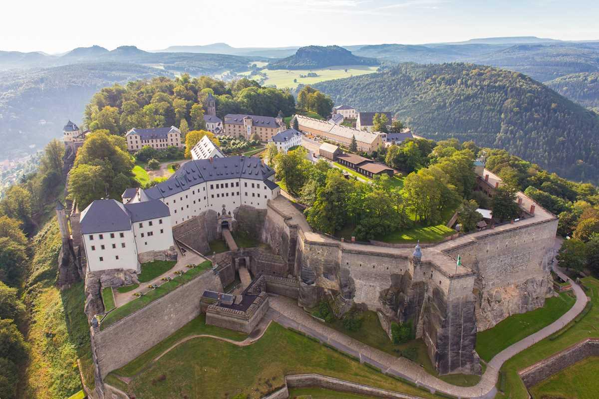 Die Festung Königstein, eine der historischen Burgen und Schlösser von Sachsen