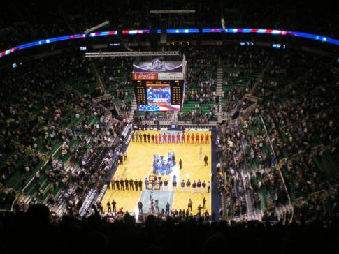 Die Energy Solutions Arena in Salt Lake City, Heimstätte der Utah Jazz