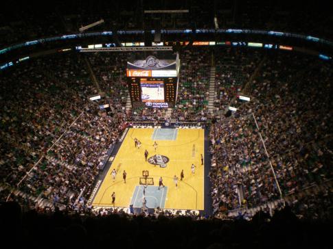 Heimspiel der Utah Jazz in der NBA gegen die Atlanta Hawks in der Energy Solutions Arena