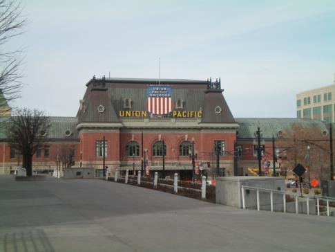 Der frühere Hauptbahnhof und heutige Union Station Depot im Zentrum von Salt Lake City