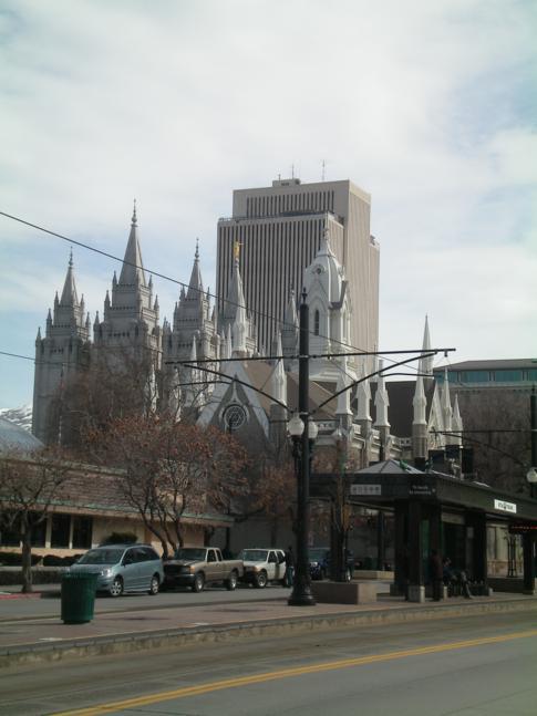 Der Salt Lake Tempel, Wahrzeichen von Salt Lake City